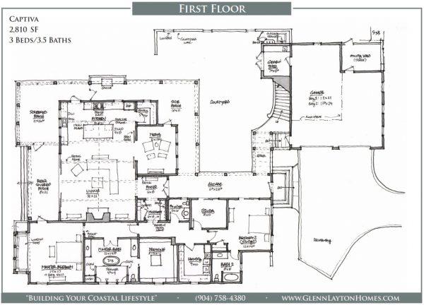 The Captive Single Story House Plan - 1st Floor